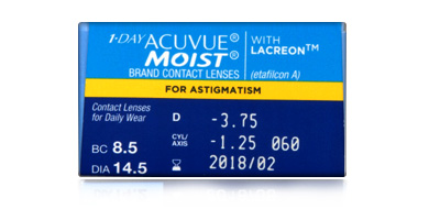 Acuvue Johnson & Johnson  1 Day Acuvue Moist for Astigmatism 30 Pack