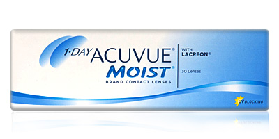 Best Daily Disposable 1 Day Acuvue Moist 30  with LACERON Contact Lenses