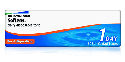 Bausch & Lomb Soflens Daily Disposable Toric for Astigmatism Contact Lenses
